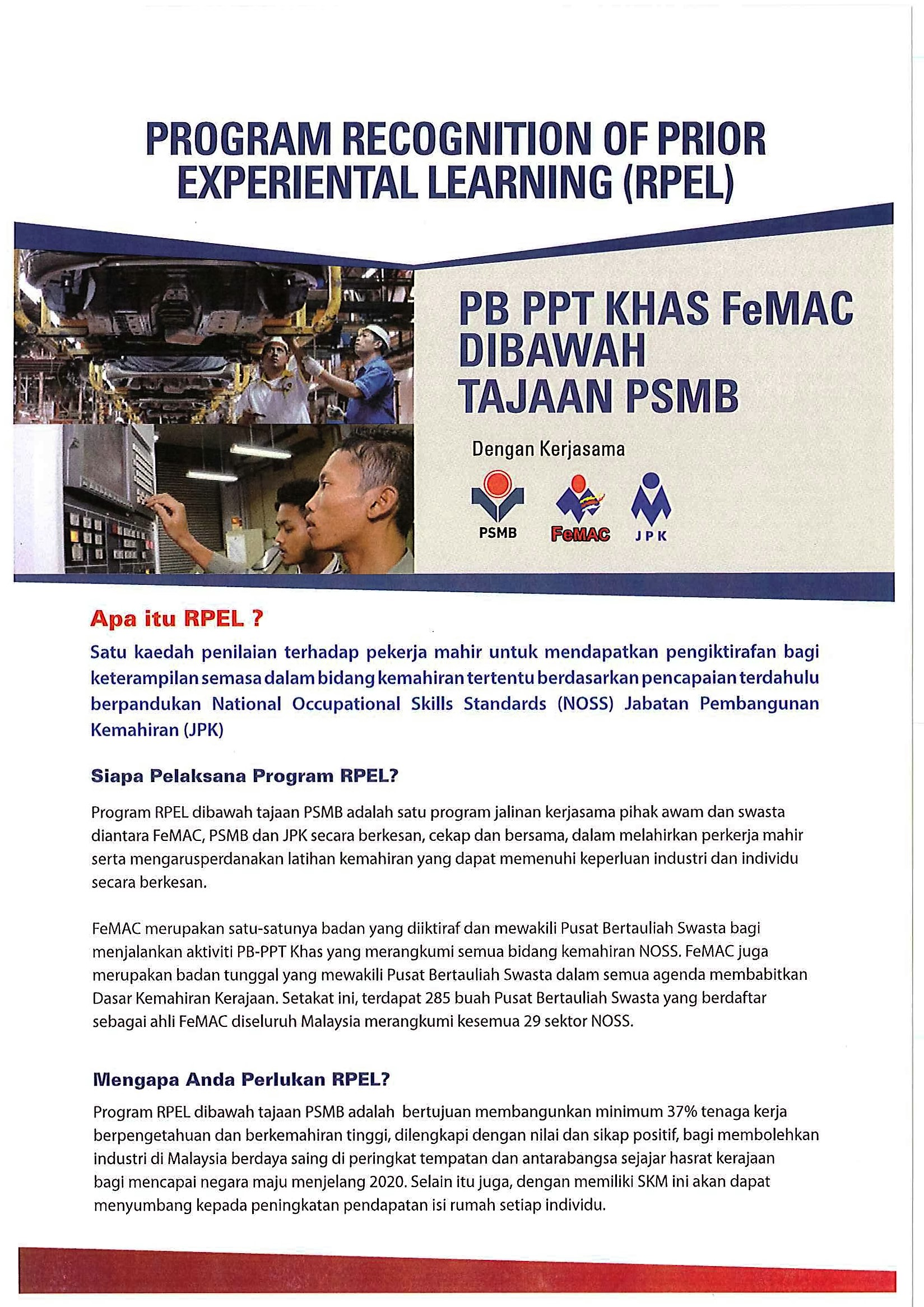 PROGRAM RECOGNITION OF PRIOR EXPERIENTIAL LEARNING (RPEL) / PPT