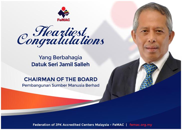 Tahniah Datuk Seri Jamil Salleh