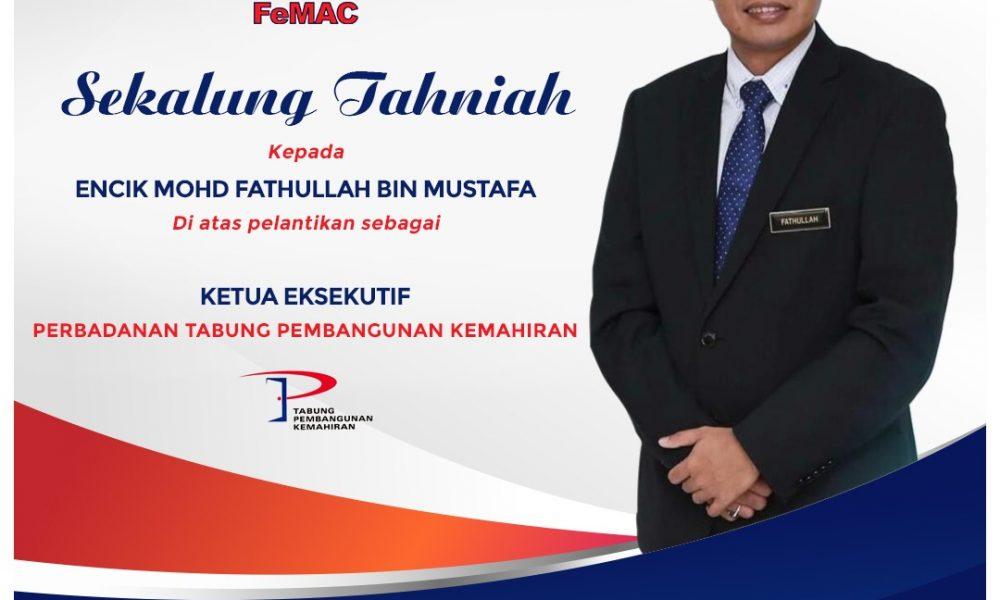 Sekalung Tahniah Kepada En. Mohd Fathullah B Mustafa