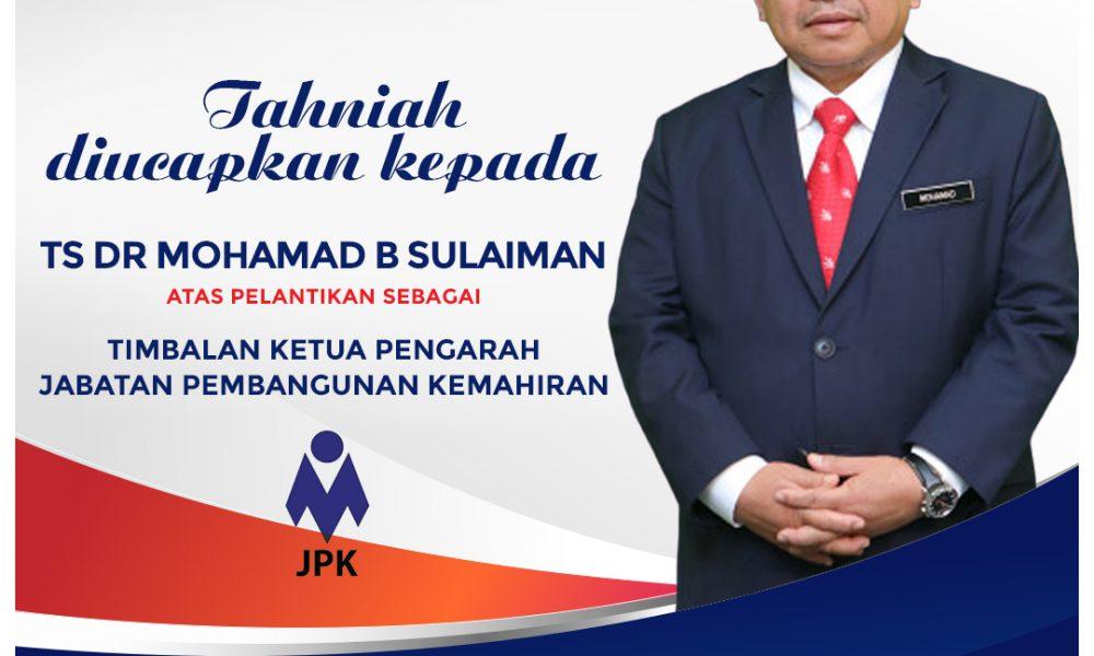 Tahniah Diucapkan Kepada TS Dr Mohamad Bin Sulaiman
